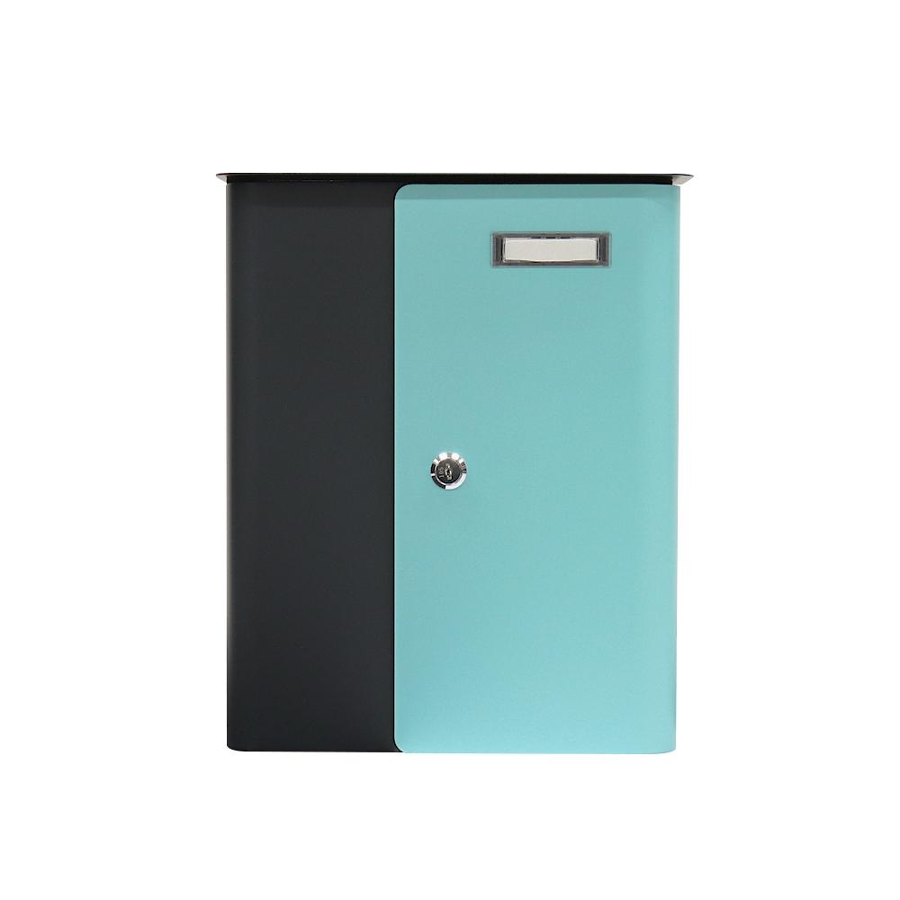 Rottner Splashy Anthracite Turquoise Letterbox