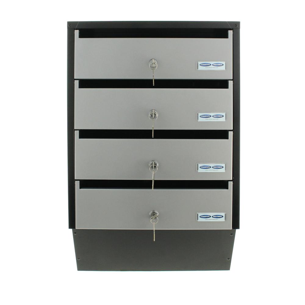 Apartment Mailbox Rottner Depot 4 Silver / Black